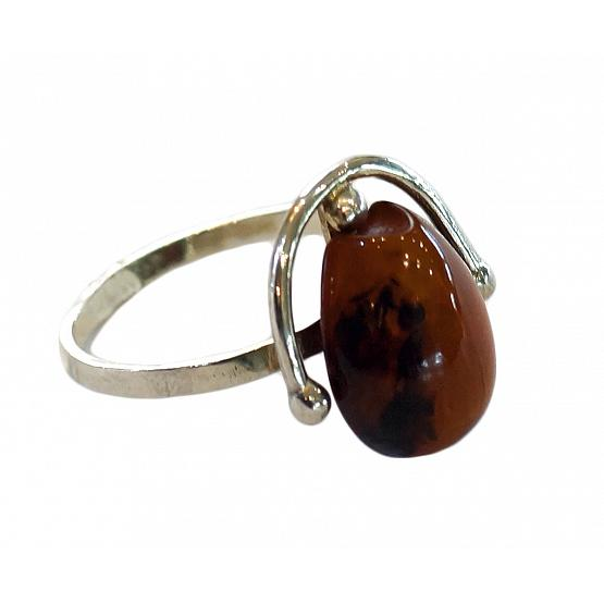 Cherry Amber Drop Ring