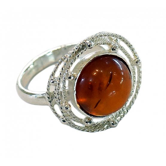 Honey Amber Ball Ring