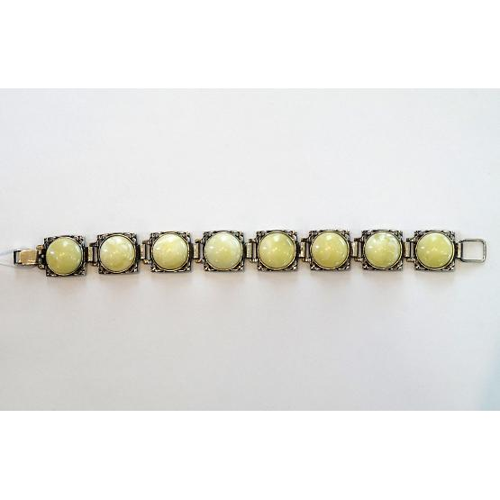 Green Amber Section Bracelet