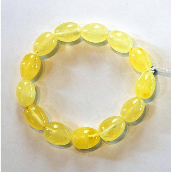 Lemon Amber Beaded Bracelet