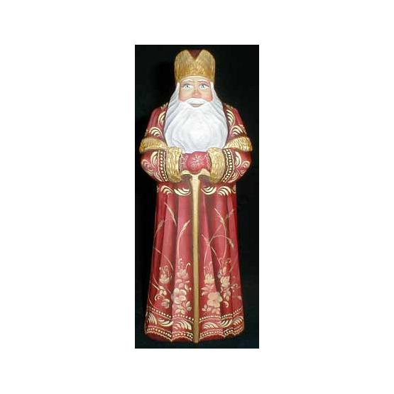 Santa with Staff Figurine