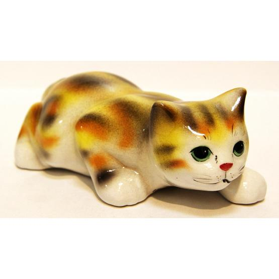 Big Cat Porcelain Figurine 1