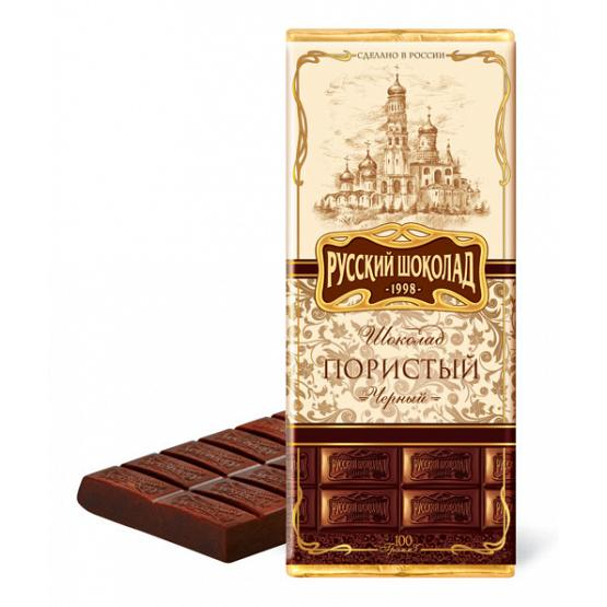 Russian Dark Aerated Chocolate Bar
