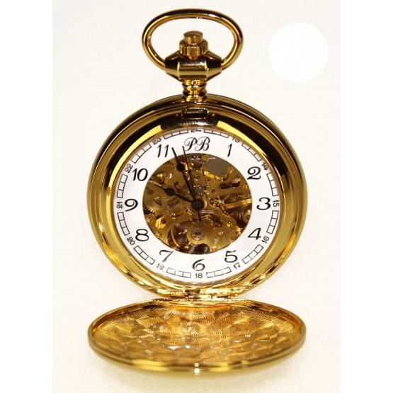 Gold Skeleton Poljot Pocket Watch 1