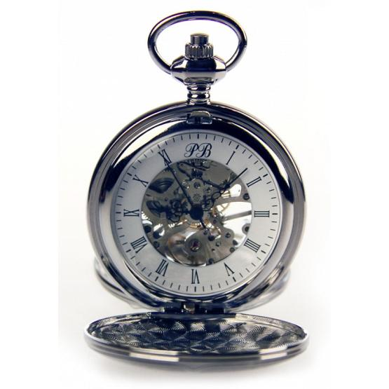 Silver Skeleton Poljot Pocket Watch 1