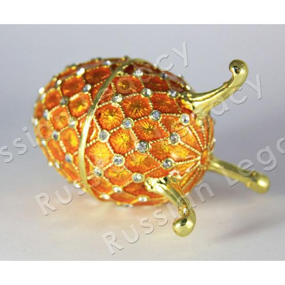 Gold Faberge Style Egg 2