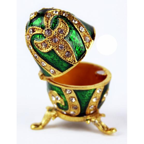 Emerald Lily Faberge Style Egg 2