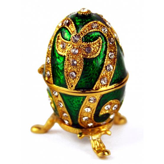 Emerald Lily Faberge Style Egg 1