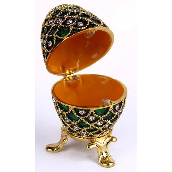 Emerald Lace Faberge Style Egg 2