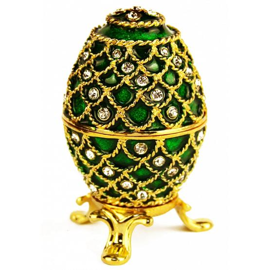 Emerald Lace Faberge Style Egg 1