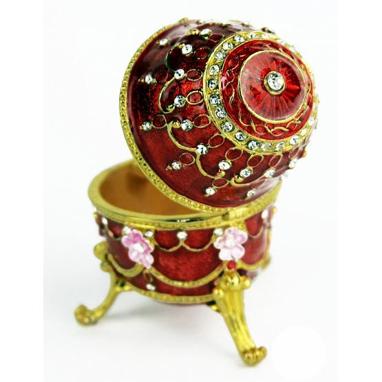 Royal Ruby Faberge Style Egg 2