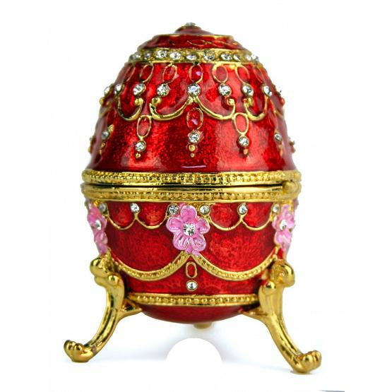 Royal Ruby Faberge Style Egg 1