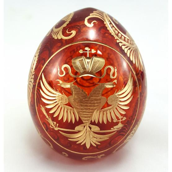 Imperial Eagle Faberge Crystal Egg