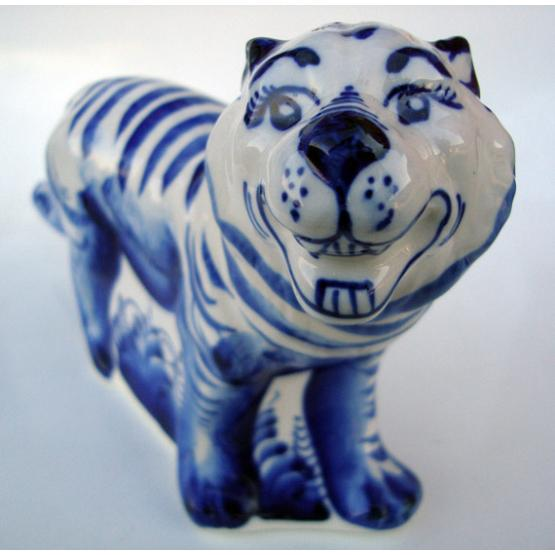 Gzhel Large Tiger Figurine 1