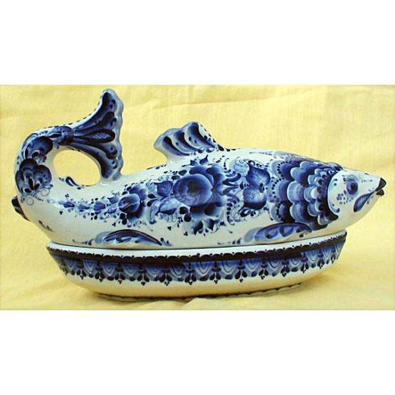 Gzhel Fish Holder