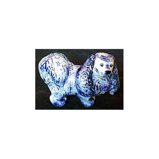 Gzhel Dog Figurine