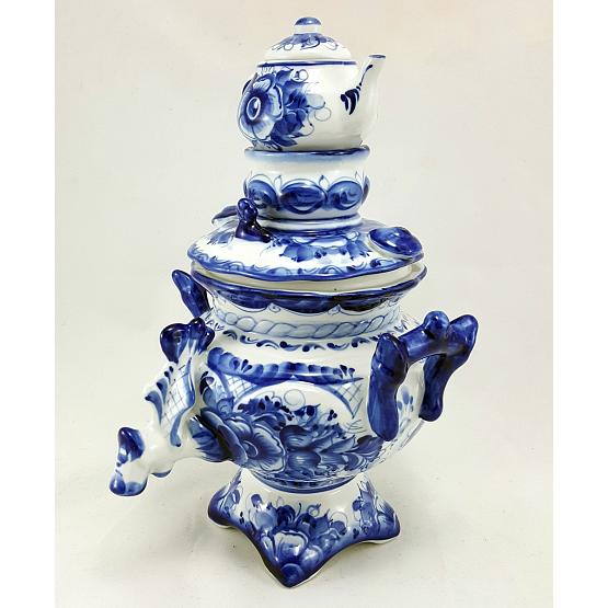 Gzhel Porcelain Decorative Samovar 1