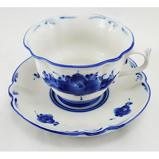 Gzhel Cup & Saucer