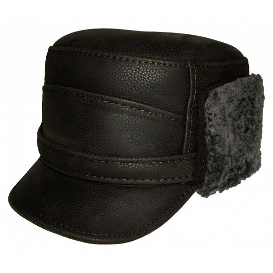 Austrian Style Leather Winter Cap 1