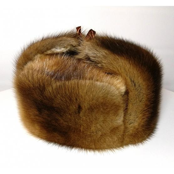 Natural Russian Muskrat Hat 1