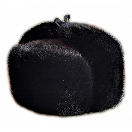 Russian Mink Fur & Suede Hat 1
