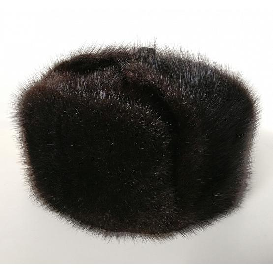 Genuine Muskrat Fur Ushanka Hat 1