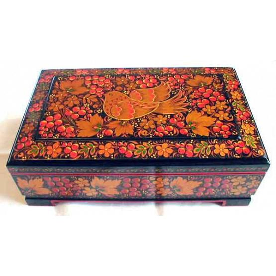 Khokhloma Bird Lacquer Box