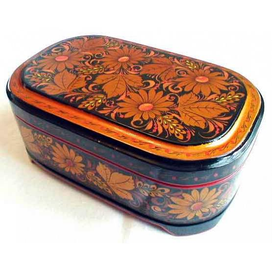 Khokhloma Daisies Jewelry Box