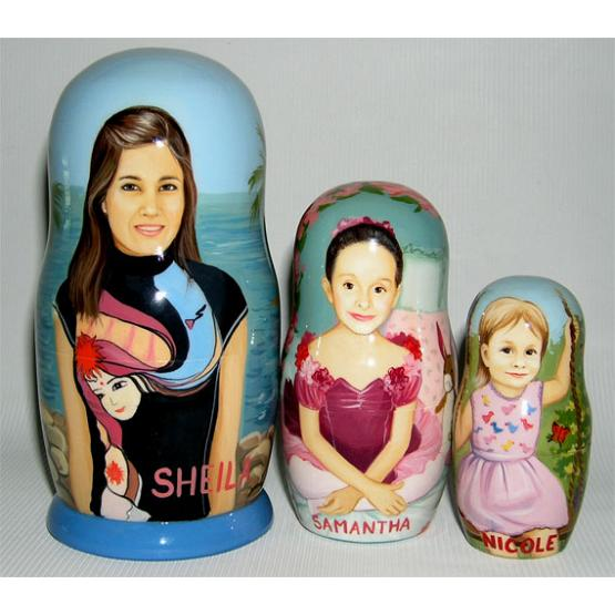 Surfer Personalized Nesting Doll 1