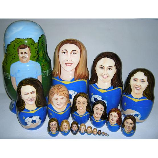 Custom Soccer Team Doll 1