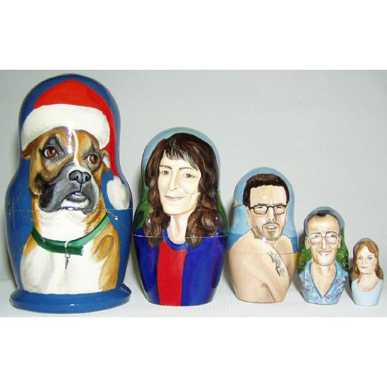 Christmas Family & Dog Doll 1