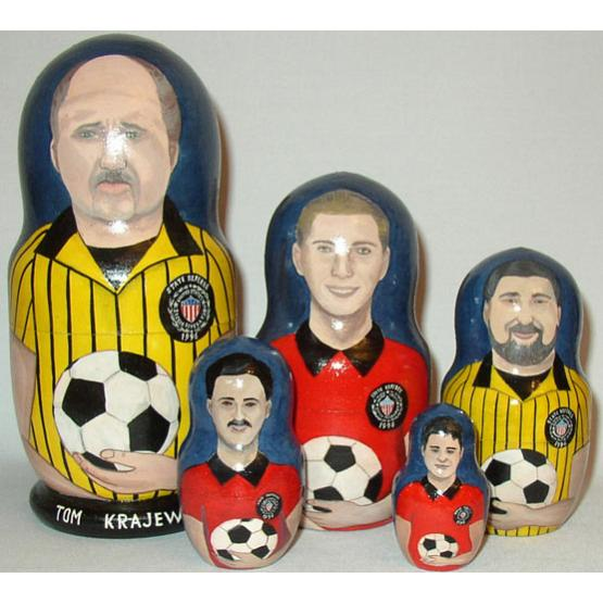 Custom Soccer Referee Doll 1