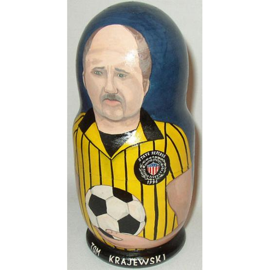 Custom Soccer Referee Doll 2