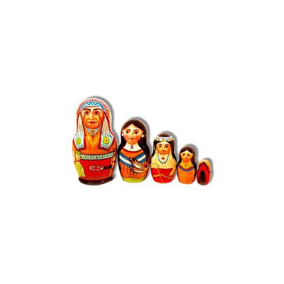 Native Americans Nesting Doll
