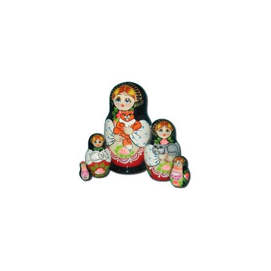 Girls & Cats Nesting Doll