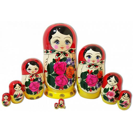 Semenovskaya 10 Piece Stacking Doll