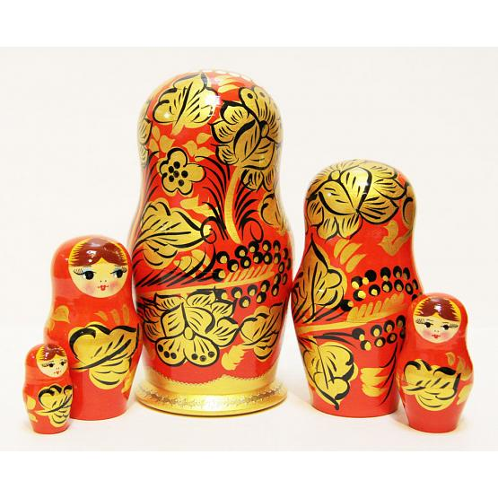 Golden Khokhloma Matryoshka 2