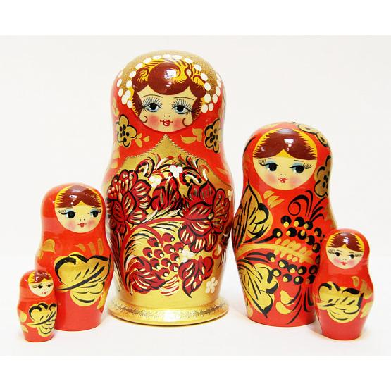 Golden Khokhloma Matryoshka 1