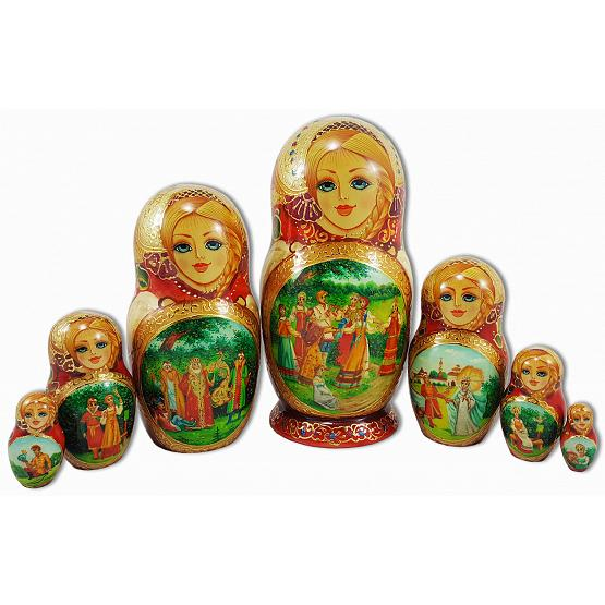 Tsarevitch Ivan Fairy Tale Russian Doll 1