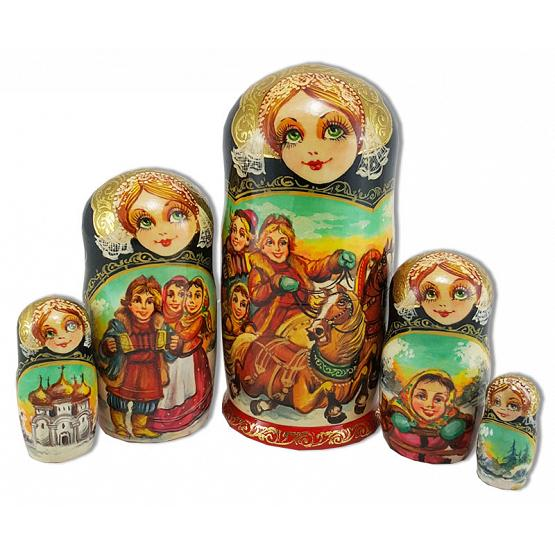Russian Winter Nesting Doll 1