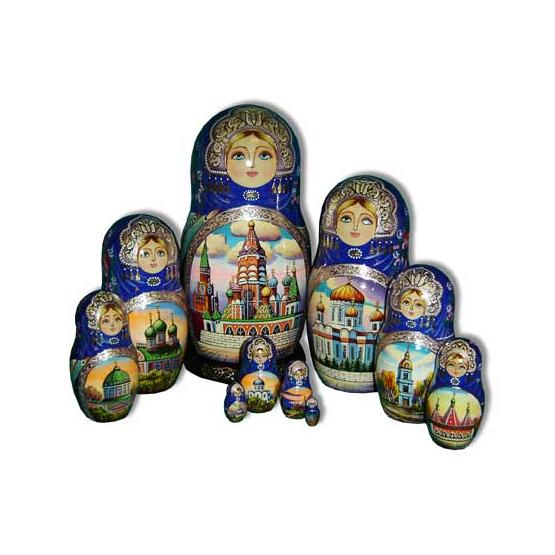Russian Churches Matryoshka