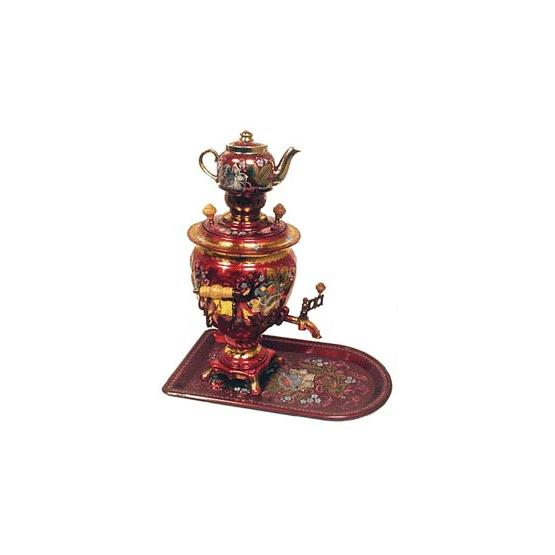 Acorn Painted Samovar Set