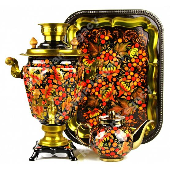 Khokhloma Electric Samovar Set