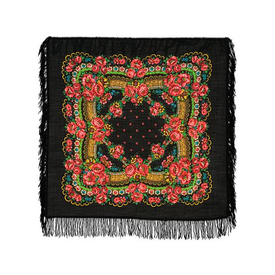 Blooming Poppies Pavlovo Posad Shawl