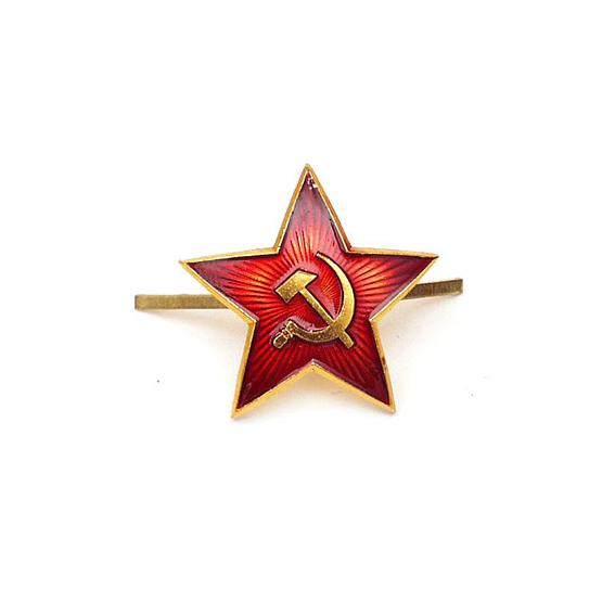 Soviet Army Red Star Hat Badge