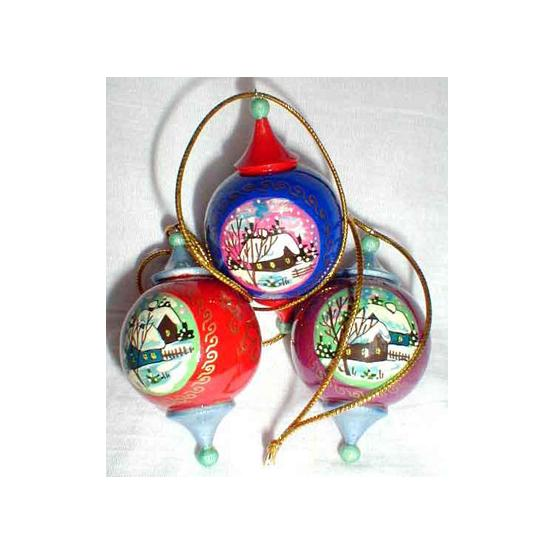 Russian Winter Christmas Ornament