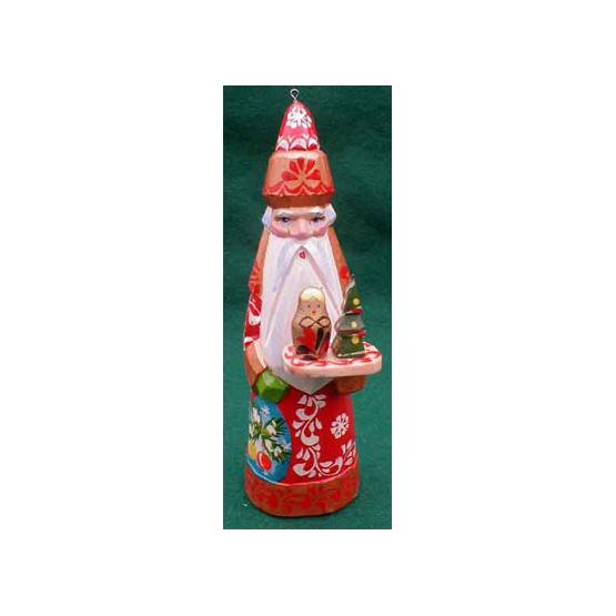 Santa with Tray Christmas Ornament