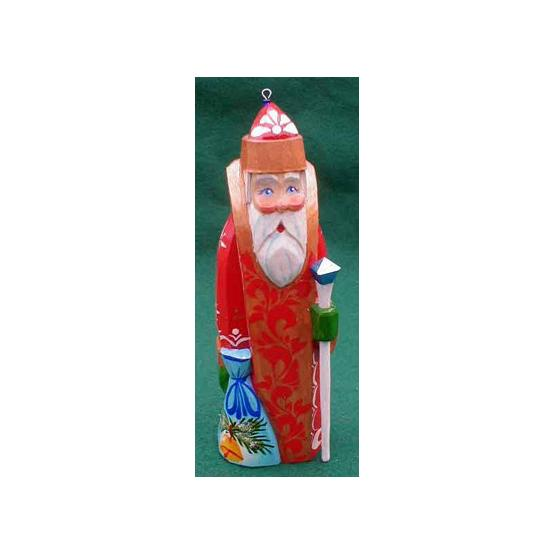 Father Frost Wooden Ornament
