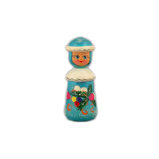 Snow Maiden Wooden Christmas Ornament