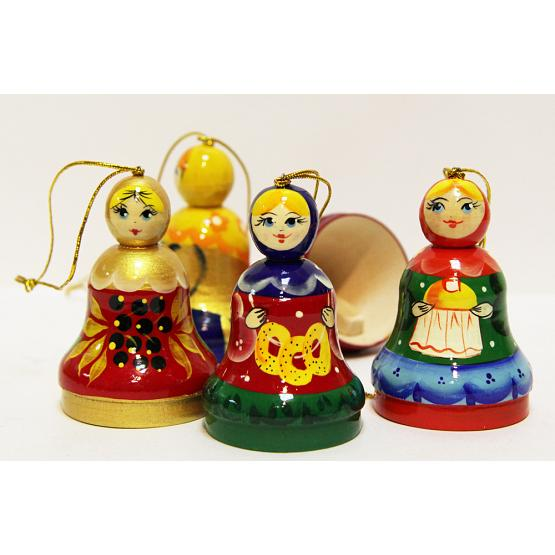 Russian Girl Wooden Christmas Ornament